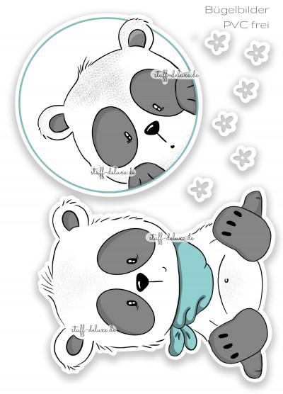 Bügelbild PVC frei Pandajunge