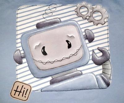 Roboter Rolli BUTTON + Gratis Patch Hi 13x18