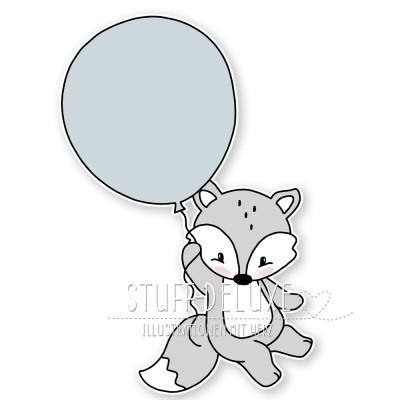Fuchs mit Ballon Plottervorlage