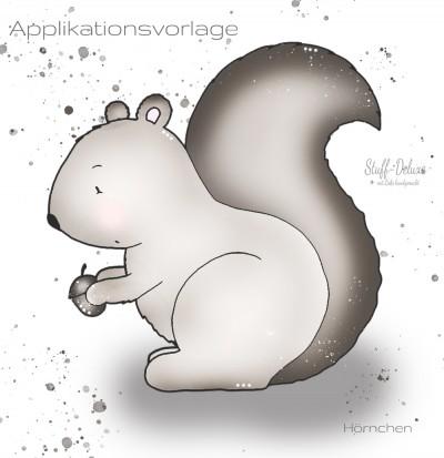 Hörnchen Applikationsvorlage