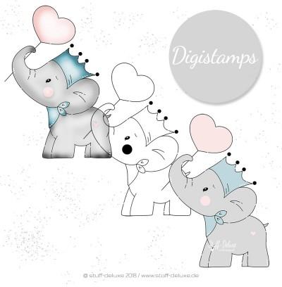 kleiner Elefant, Herz, Fanti, Liebe, Elephant, sticken, Stickdatei