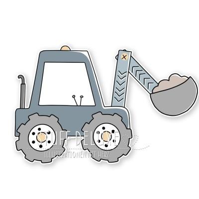 Bagger Doodle Plottervorlage