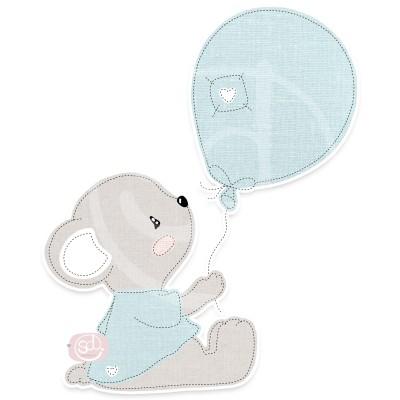 Bärli mit Ballon Applikationsvorlage