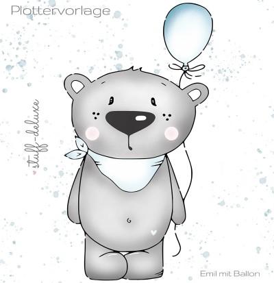Emil mit Ballon Plottervorlage