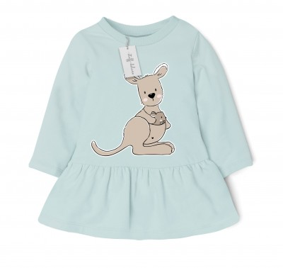 Australien Känguru Frieda mit Baby Doodle Plottervorlage