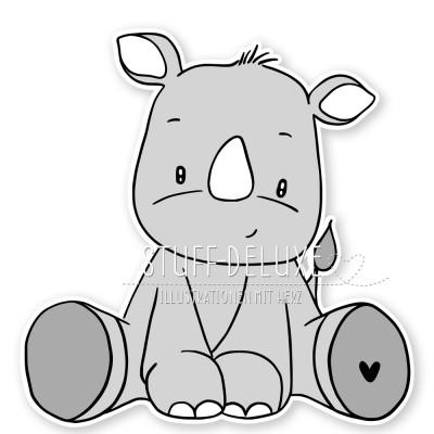Nashorn Nico Doodle Plottervorlage