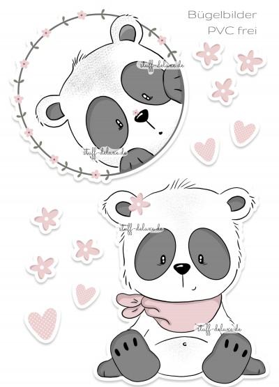 Bügelbild PVC frei Pandamädchen