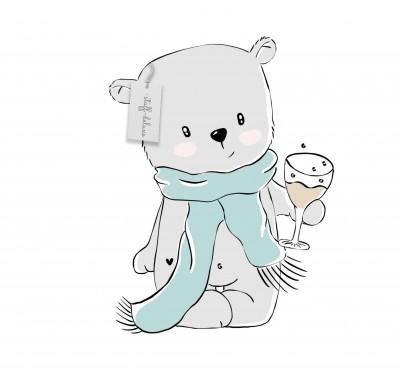 Silvesterbärli Doodle Plottervorlage