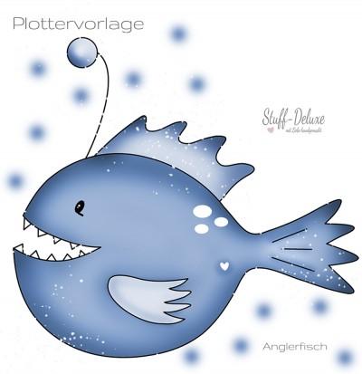Anglerfisch Plottervorlage