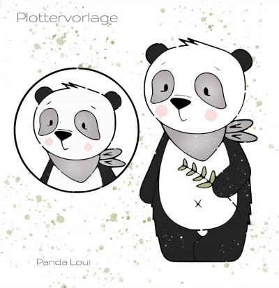 Panda Loui Plottervorlage