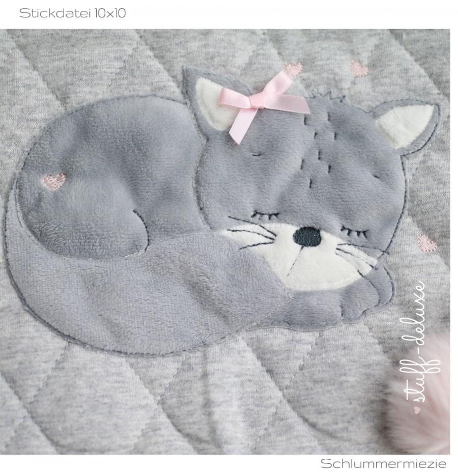 Mieze Katze Schlummermieze Stickdatei