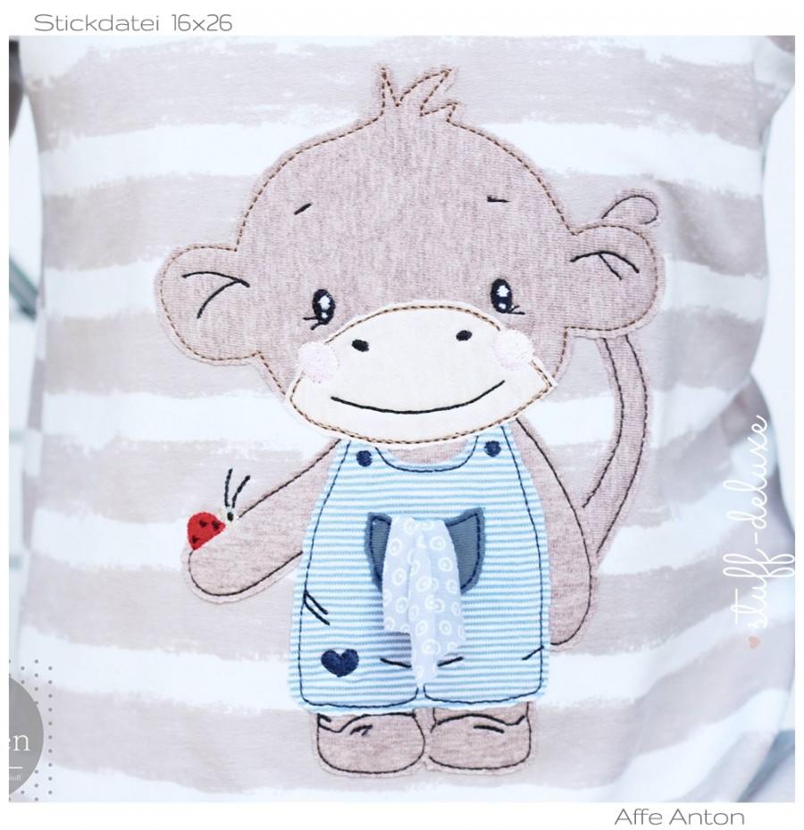 Affe Monkey Stickdatei Anton