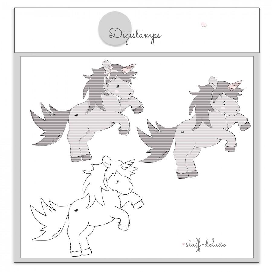 Ella Einhorn Pony Pferd Digistamp Plotterdatei